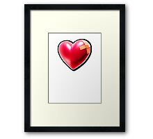 Patched heart Framed Print