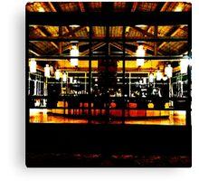 UC Davis Coffee House at Night Canvas Print
