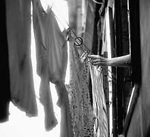 Hanging Laundry - Italy by Kent DuFault