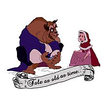 """Tale as old as time..."" - Beauty and the Beast Photographic Print"