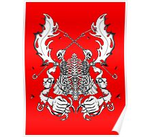 Safety Pin Skeleton Celtic Banner Design Poster
