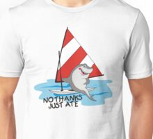 Funny summer sailboat shark no thanks just ate Unisex T-Shirt