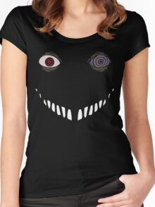Black Zetsu with Obito's Eyes Women's Fitted Scoop T-Shirt