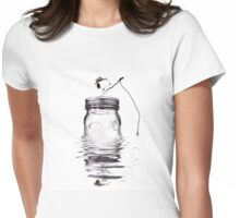 Snoopy fishing Womens Fitted T-Shirt