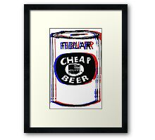 FIDLAR- Cheap Beer Framed Print