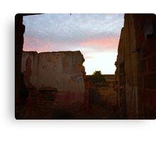 Sunset At Walls End Canvas Print