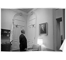 LBJ Looking At FDR Poster