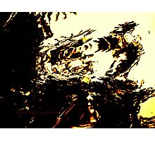 Monster Yelling At TV Photographic Print