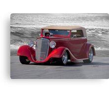 1934 Chevrolet Phaeton ' On the Beach' Metal Print