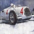 Auto Union C Type 1937 Monaco GP Hans Stuck by Yuriy Shevchuk
