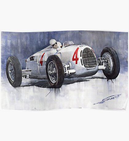 Auto Union C Type 1937 Monaco GP Hans Stuck Poster