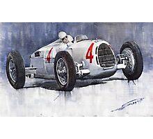 Auto Union C Type 1937 Monaco GP Hans Stuck Photographic Print