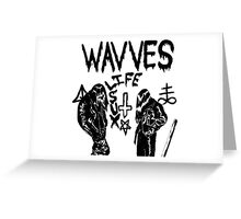 Wavves- life sux Greeting Card