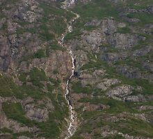 Water Fall Glacier  by Luann wilslef