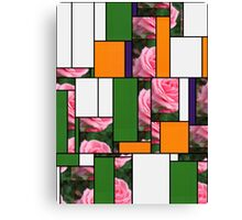 Pink Roses in Anzures 2 Art Rectangles 5 Canvas Print