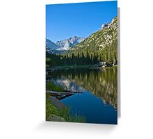 Mills Lake at Sunrise Rocky Mountain National Park Greeting Card