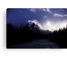 Late in the day, Jasper National Park, Canada, 1987 Canvas Print