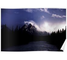 Late in the day, Jasper National Park, Canada, 1987 Poster