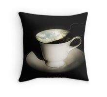 It's just a Storm in a Teacup Throw Pillow