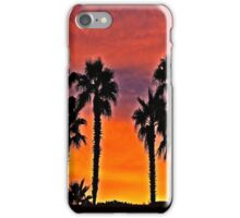 Palms At Sunset iPhone Case/Skin