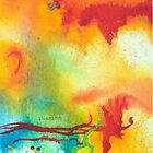 Imagine Affirmation - Bright abstract painting by Kore Sage