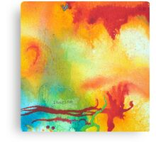 Imagine Affirmation - Bright abstract painting Canvas Print
