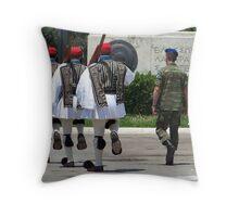 synchronisation - athens evzones Throw Pillow