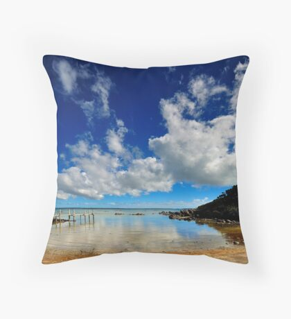 The Jetty VIII Throw Pillow