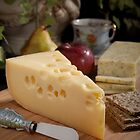 Cheeses,  Apple and Pear at Tea Time by Jerry Deutsch