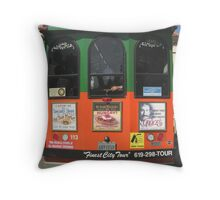 Old Town Trolley Throw Pillow