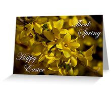 Forsythia card Greeting Card