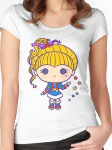 Funky Prism Girl Women's Fitted Scoop T-Shirt