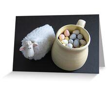 Lamb & Eggs Greeting Card
