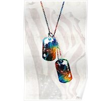 Military Art Dog Tags - Honor - By Sharon Cummings Poster