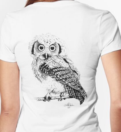 Pretty Little Owl Womens Fitted T-Shirt