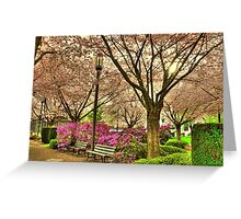 Spring day at the State Park Salem Oregon Greeting Card