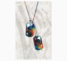 Military Art Dog Tags - Honor - By Sharon Cummings Kids Clothes