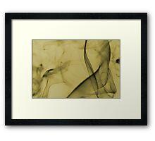 Smoldering Smoke Muted Pastel 006 Framed Print