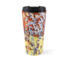 Rust Accent In Red, Yellow And Light Blues Travel Mug