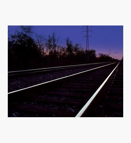 Walking on the Tracks Photographic Print