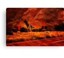 """""""The Firestorm-Wild Fires In The Bush"""" Canvas Print"""
