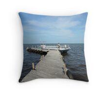 Caribbean Cruise Excursion Dock Throw Pillow