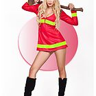 Pin Up of Kim as Firefighter by Gavin Bell