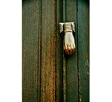 The Hand that Knocks Photographic Print