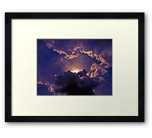 ©HCS Front Clouds IA. Framed Print
