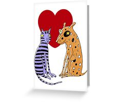 Opposites Attract Greeting Card