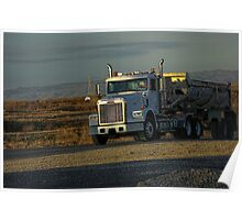 Big gravel truck moving Poster
