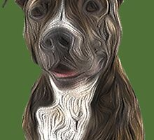 Pit Bull Terrier Oil Painting Style by ProjectMayhem