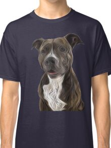 Pit Bull Terrier Oil Painting Style Classic T-Shirt