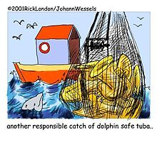 Dolphin-Safe Tuba by Lonsons Times Cartoons by Rick  London